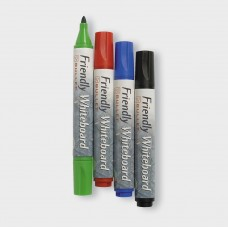 Whiteboardpenna Friendly Marker Whiteboard, Fine, Bullet/Rund, 4 färger/fp