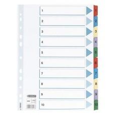 Pärmregister Esselte 100161 A4, 1-10 dubbelsidig 1/fp