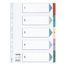 Pärmregister Esselte 100160 A4, 1-5 dubbelsidig 1/fp