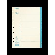 Pärmregister papper Jopa A4, 1-5 tryckta flikar 20/fp