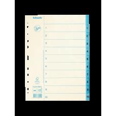Pärmregister papper Jopa A4, 1-10 tryckta flikar 10/fp