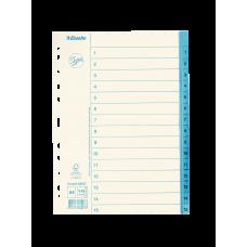 Pärmregister papper Jopa A4, 1-15 tryckta flikar 10/fp