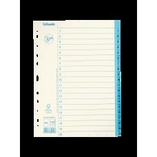 Pärmregister papper Jopa A4, 1-20 tryckta flikar 10/fp