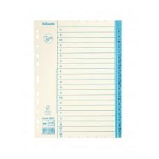 Pärmregister papper Jopa A4, A-Ö tryckta flikar 10/fp