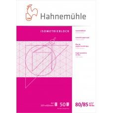 Millimeterpapper / Millimeterrutat papper Isometric (triangulär), Hahnemühle, 80/85g, A3, Blå, 50 ark
