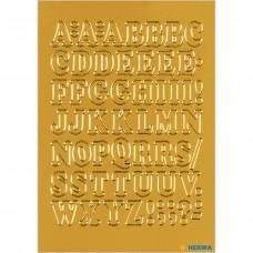 Märketikett Herma Vario 4183 Bokstäver A-Z 12mm, Guldfolie, 1 ark/fp