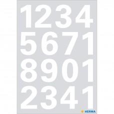 Märketikett Herma Vario 4170 Siffror 0-9 25mm, Vit, 1 ark/fp