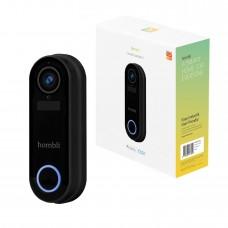 Smart dörrklocka med kamera, WiFi, Hombli Smart Doorbell 2, batteridriven, Svart
