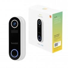 Smart dörrklocka med kamera, WiFi, Hombli Smart Doorbell 2, batteridriven, Vit