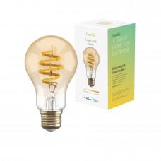 Smart lampa, WiFi, Hombli Smart Bulb Amber A60, E27, LED, CCT, 5,5W, Dimbar, Retro Filament, med retrofilament