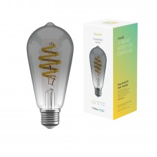 Smart lampa, WiFi, Hombli Smart Bulb Smokey ST64, E27, LED, CCT, 5,5W, Dimbar, Retro Filament, med retrofilament