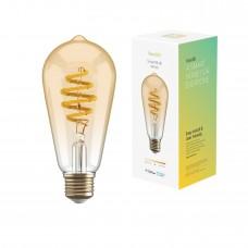 Smart lampa, WiFi, Hombli Smart Bulb Amber ST64, E27, LED, CCT, 5,5W, Dimbar, Retro Filament, med retrofilament