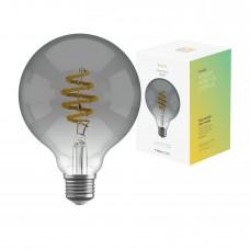 Smart lampa, WiFi, Hombli Smart Bulb Smokey G95, E27, LED, CCT, 5,5W, Dimbar, Retro Filament, med retrofilament