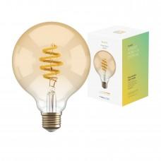 Smart lampa, WiFi, Hombli Smart Bulb Amber G95, E27, LED, CCT, 5,5W, Dimbar, Retro Filament, med retrofilament