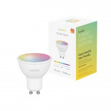 Smart lampa, WiFi, Hombli Smart Spot GU10, LED, RGB & CCT, 5W, Dimbar, Multifärg