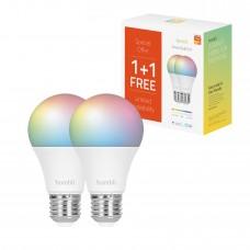 Smart lampa, WiFi, Hombli Smart Bulb E27, LED, RGB & CCT, 9W, Dimbar, Multifärg, 2/fp