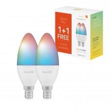 Smart lampa, WiFi, Hombli Smart Bulb E14, LED, RGB & CCT, 4,5W, Dimbar, Multifärg 2/fp