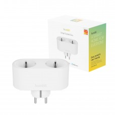 Strömbrytare, WiFi, Hombli Smart Socket Duo WiFi Plug (EU), 16A, Vit (med energimätning)