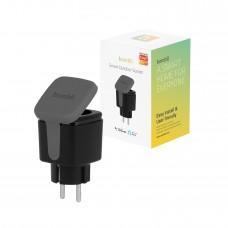 Strömbrytare, utomhusbruk, WiFi, Hombli Smart Outdoor Socket WiFi Plug (EU), 16A, Svart (med energimätning)