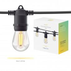 Smart utomhusbelysning, WiFi, Hombli Smart Outdoor Light String, Dimbar, 5m (10 lampfästen, + 12 lampor)