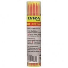 Reservstift till LYRA Dry Basic 2,8mm Röd, 12 stift/fp (vattenlöslig)