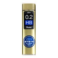 Blyertsstift Pentel AIN Stein C272 0,2mm, 20 stift/tub HB