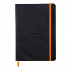 Anteckningsbok Rhodia Rhodiarama Softcover A5 LINED (Linjerat) 90g, 80 blad, Svart