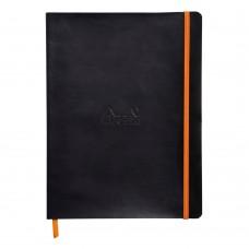Anteckningsbok Rhodia Rhodiarama Softcover XL LINED (Linjerat) 90g, 80 blad, Svart