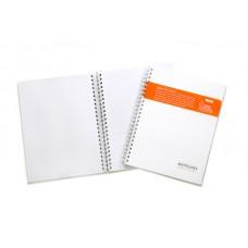 Anteckningsbok Whitelines® Wire A5, 80 blad linjerat 1/fp
