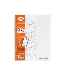 Kollegieblock Whitelines, A5, 60 blad, grått papper, vita stödlinjer, Linjerat 1/fp