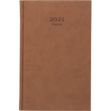 Dagbok Burde 1029 Dagbok Cognac konstläder