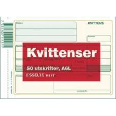 Blankett Kvittens A6L (111 17) 50 blad 1/fp