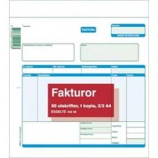 Blankett Fakturor 2/3 A4 (21x21cm) med kopia (112 12) 2x50 blad 1/fp