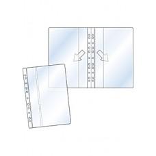Plastficka Tidskrifts (dubbel), omslagsficka, A4 dubbelvikt 25/fp