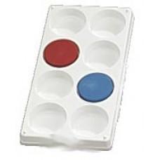 Plastpalett för 8 st färgblock Ø 57mm