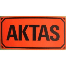 50 st AKTAS emballageetiketter