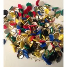 Häftstift SHF Top Lyx med plastkapsel Blandade färger 200/ask