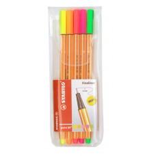 Fineliner Stabilo Point 88 Neon, 5 färger/fp