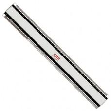 Linjal/Aluminiumlinjal M+R, aluminium, 30cm cm/mm/tum-gradering, med antiglid 1/fp