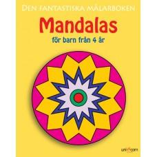 Målarbok Mandalas för barn från 4 år, 27x21,5cm 1/fp
