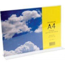 Informationsställ/Broschyrhållare A4L (liggande) T-fot