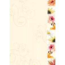 Motivpapper Sigel Flowerstyle DP788 A4 90gram, 50 ark/fp