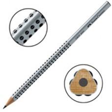 Ergonomisk penna: Blyertspenna Faber-Castell Grip 2001 Grå, HB, 12 pennor/fp