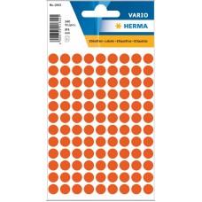 Märketiketter/Signaletiketter Herma Vario 1842 Ø 8mm permanent Röd 540/fp