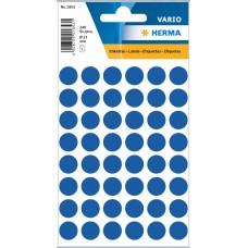 Märketiketter/Signaletiketter Herma Vario 1853 Ø 13mm permanent Mörkblå 240/fp