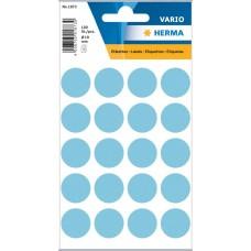 Märketiketter/Signaletiketter Herma Vario 1873 Ø 19mm permanent Blå 100/fp