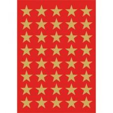 Dekorationsetiketter Herma 3412 Guldstjärnor 13mm 120/fp