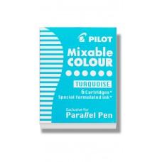 Patron Pilot Parallel Pen Mixable Colour IC-P3-S6-TQ till Pilot Parallel pen Ljusblå/Turkos 6/ask