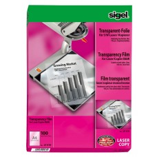 OH-film/Overheadfilm Sigel LF419 A4 för laserskrivare 100 ark/fp